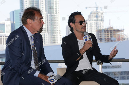 Marc Anthony, Jorge Perez Musician Marc Anthony, right, speaks during a news conference, in Miami. Anthony will perform in the halftime show of the International Champions Cup soccer match of El Clasico Miami between Real Madrid C.F. and FC Barcelona on July 29 at Hard Rock Stadium in Miami Gardens, Fla. At left is Related Group Miami CEO & Co-Founder Jorge Perez, who is an ambassador for El Clasico Miami