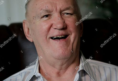 """Former boxer Chuck Wepner talks to The Associated Press in his home in Bayonne, N.J. Wepner, the Bayonne Bleeder, went toe-to-toe with Muhammad Ali in a fight that inspired Sylvester Stallone to write """"Rocky."""" Stallone later settled a lawsuit Wepner filed against him. Wepner's real-life story is coming to the big screen and this time he's getting all the credit, with Liev Schreiber playing Wepner in """"Chuck,"""" which opens on Friday, May 5, 2017, in New York and Los Angeles before expanding nationwide"""
