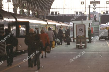 Prince Charles Accompanied By Officials Caught The 15.15 Intercity To Swindon From Paddington 's Platform Four This Afternoon En Route To Highgrove. See Emily Wilson Copy