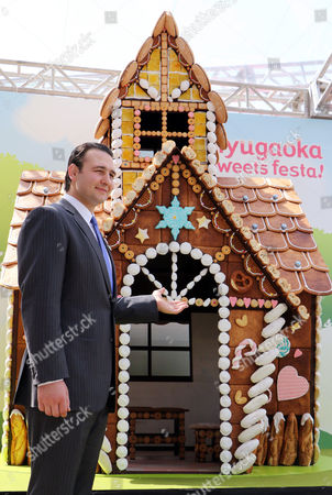 Stock Picture of Former Bulgarian sumo champion or Ozeki Kotooshu who was named as the sweet ambassador