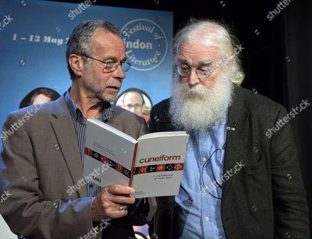 Stock Image of Festival Director Matt Holand and Dr. Irving Finkel