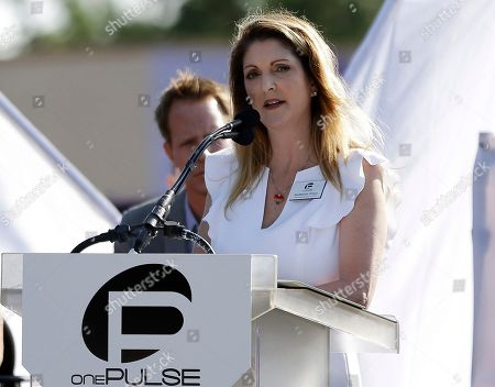 Pulse nightclub owner Barbara Poma speaks at a news conference announcing plans for a memorial at the site, in Orlando, Fla. Poma said the site will become a memorial and a museum to honor the 49 people who were killed and the dozens more who were injured during the worst mass shooting in modern U.S. history