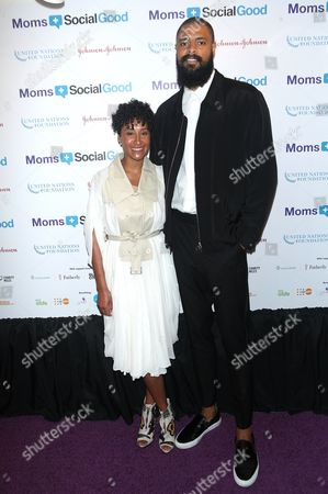Stock Image of Kimberly Chandler and Tyson Chandler