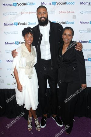 Stock Picture of Kimberly Chandler, Tyson Chandler and Danielle Brown