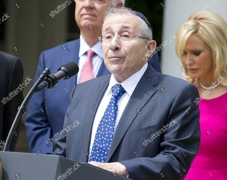 Rabbi Marvin Hier, president Simon Wiesenthal Center, offers a prayer