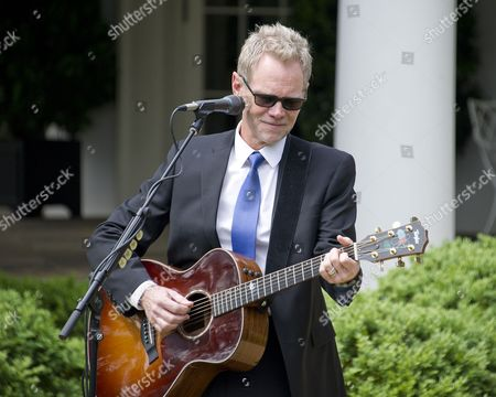American Christian music singer and songwriter Steven Curtis Chapman performs prior to Donald J. Trump signing a Proclamation designating as a National Day of Prayer and an Executive Order 'Promoting Free Speech and Religious Liberty' in the Rose Garden