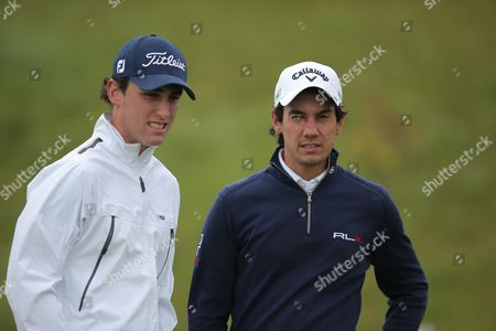 Matteo Manassero and Renato Paratore of Italy  during the GolfSixes European Tour 2017 Pro-Am at the Centurion Club , St Albans  on 5th May 2017
