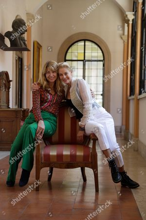 """Stock Photo of Spanish director Ines Paris, left, and actress Belen Rueda pose for photographers during a photo call presenting the movie """"La noche que mi madre mató a mi padre""""(The Night That My Mother Killed My Father) on the occasion of the Spanish Film Festival in Rome"""