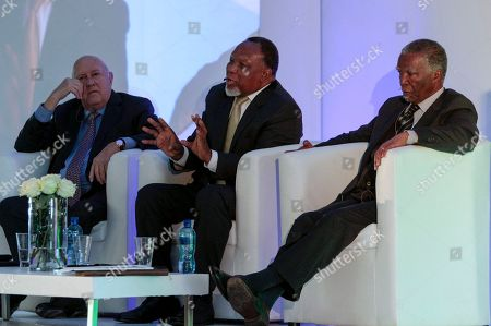 F.W. de Klerk; Kgalema Motlanthe, Thabo Mbeki Former South African Presidents; left to right. F.W. de Klerk; Kgalema Motlanthe and Thabo Mbeki in Johannesburg, . The three teamed up for the first time to critisize President Jacob Zuma, who faces growing calls to step down after a series of corruption scandals