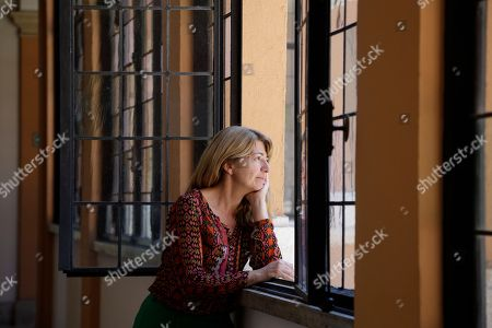 """Stock Image of Spanish director Ines Paris poses for photographers during a photo call presenting the movie """"La noche que mi madre mató a mi padre""""(The Night That My Mother Killed My Father) on the occasion of the Spanish Film Festival in Rome"""