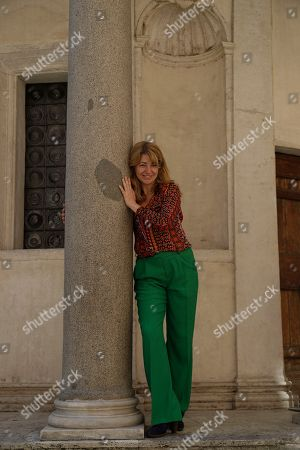 """Stock Picture of Spanish director Ines Paris poses for photographers during a photo call presenting the movie """"La noche que mi madre mató a mi padre""""(The Night That My Mother Killed My Father) on the occasion of the Spanish Film Festival in Rome"""