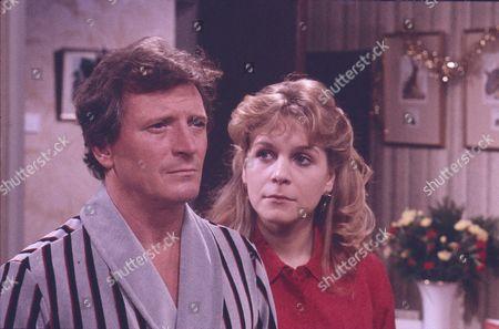 Johnny Briggs (as Mike Baldwin) and Wendy Jane Walker (as Susan Barlow)