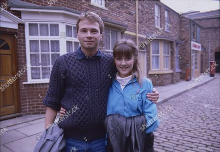 Stock Photo of David Lonsdale (as Peter Barlow) and Christina Barryk (as Jessica Midgely)