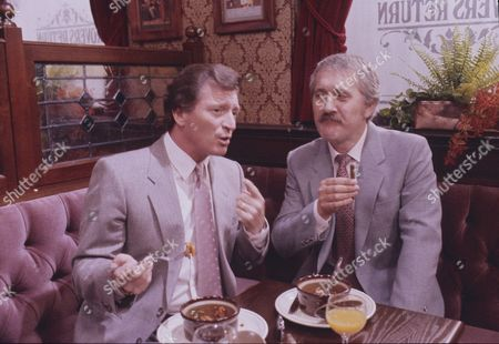 Stock Picture of Johnny Briggs (as Mike Baldwin) and Don Crann (as Trevor Hargreaves)