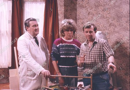Bryan Mosley (as Alf Roberts), Sue Nicholls (as Audrey Roberts) and Michael Wardle (as Roy Turner)