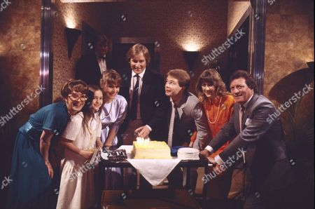 Anne Kirkbride (as Dierdre Barlow), Holly Chamerette (as Tracey Barlow), Wendy Jane Walker (as Susan Barlow), William Roache (as Ken Barlow) David Lonsdale (as Peter Barlow), Christina Barryk (as Jessica Midgeley) and Johnny Briggs (as Mike Baldwin)