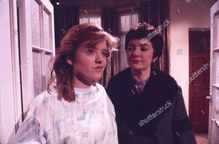 Sally Ann Matthews (as Jenny Bradley) and Ann Penfold (as Doreen Warburton)