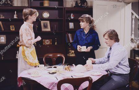 Anne Kirkbride (as Dierdre Barlow), Wendy Jane Walker (as Susan Barlow), William Roache (as Ken Barlow)