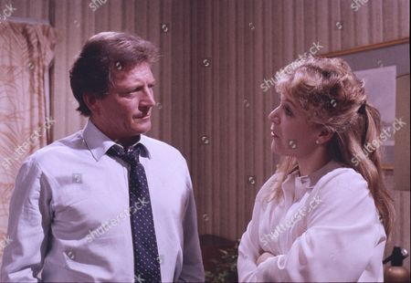 Johnny Briggs (as Mike Baldwin) and Wendy Jane Walker (as Susan Barlow)