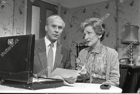 Anthony Schaeffer (as Mr Fletcher) and Eileen Derbyshire (as Emily Bishop)