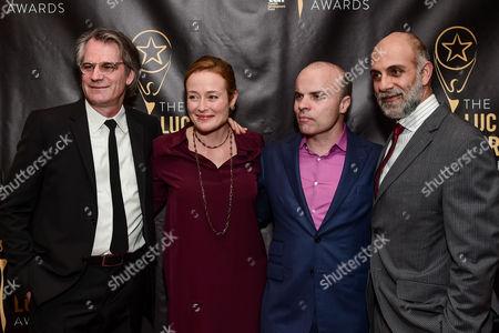 Stock Image of Barlett Sher, Jennifer Ehle, J.T. Rogers and Anthony Azizi