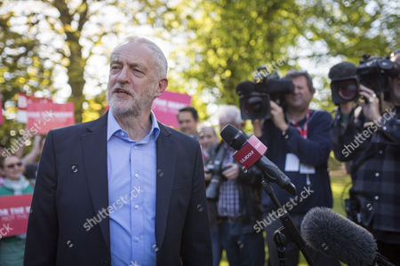 Jeremy Corbyn, Leader of the Labour Party, joins newly elected Metro Mayor of the Liverpool City Region Steve Rotheram (not pictured) in Liverpool at Devonshire House Hotel, Edge Lane, Liverpool.