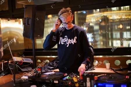 DJ Stretch Armstrong at the G-SHOCK and Stash Collaboration after party at the Arlo Hotel in New York on . The G-SHOCK and Stash Collaboration is a limited edition watch that will go on sale May 6