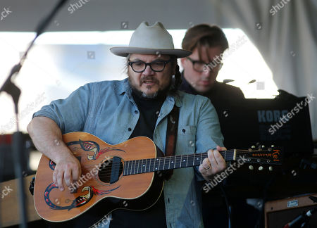 Jeff Tweedy, Mikael Jorgensen Jeff Tweedy and keyboardist Mikael Jorgensen, behind, of Wilco perform with the band at the New Orleans Jazz and Heritage Festival in New Orleans