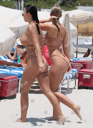 Editorial picture of Devin Brugman and Natasha Oakley out and about, Miami Beach, Florida, USA - 04 May 2017
