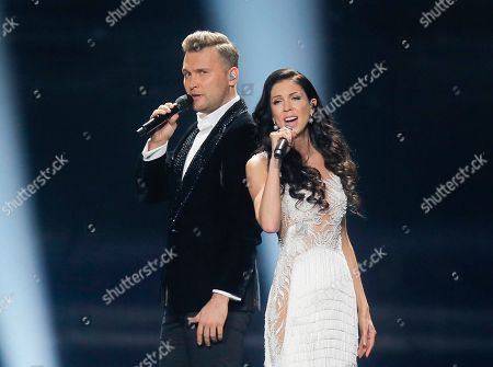 Koit Toome, Laura Estonia's Koit Toome and Laura performs the song 'Verona' during rehearsals for the Eurovision Song Contest, in Kiev, Ukraine, . The first semi final of The Eurovision Song Contest 2017 will be held on May 9