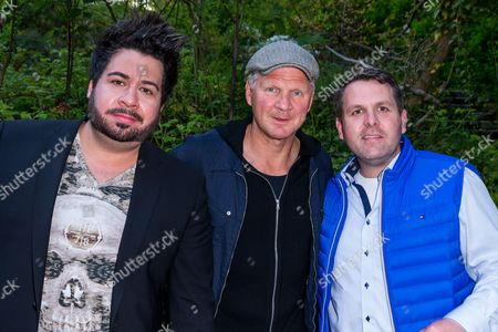 Michael Kanz (L), Stefan Effenberg and Sven Kanz (R)