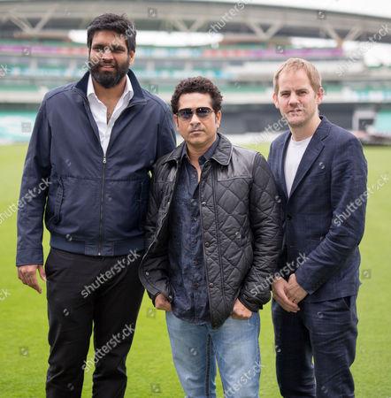 Ravi Bhagchindka, Sachin Tendulkar and James Erskine