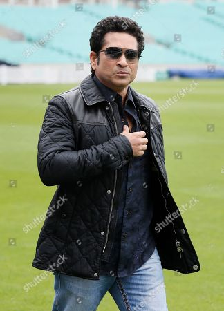 Indian former cricket player Sachin Tendulkar arrives at the Oval cricket ground to promote his upcoming film, in London, . The film, Sachin: A Billion Dreams is an Indian biographical film written and directed by James Erskine and produced by Ravi Bhagchandka. The film, based on the life of Tendulkar will be released on May 26