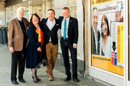 Sir Menzies Campbell, Christine Jardine, Alex Cole Hamilton and Willie Rennie