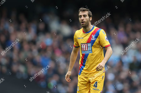 Mathieu Flamini Of Crystal Palace during the Premier League match between Manchester City and Crystal Palace at The Etihad Stadium in Manchester on 6th May 2017.