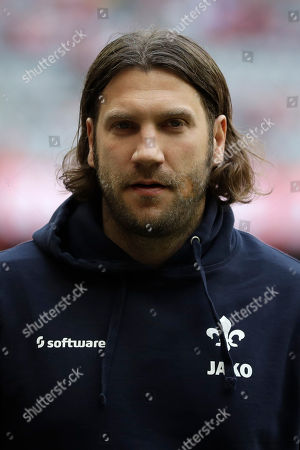 Darmstadt's head coach Torsten Frings arrives for the German Soccer Bundesliga match between FC Bayern Munich and SV Darmstadt 98 at the Allianz Arena stadium in Munich, Germany