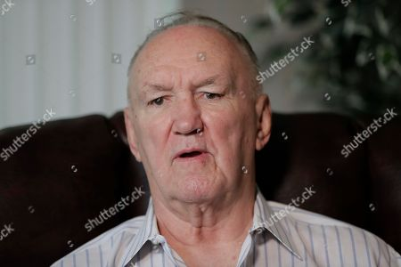 """Former boxer Chuck Wepner talks to The Associated Press in his home in Bayonne, N.J., . Wepner, the Bayonne Bleeder, went toe-to-toe with Muhammad Ali in a fight that inspired Sylvester Stallone to write """"Rocky."""" Stallone later settled a lawsuit Wepner filed against him. Forty years later, Wepner's real-life story is coming to the big screen and this time he's getting all the credit"""
