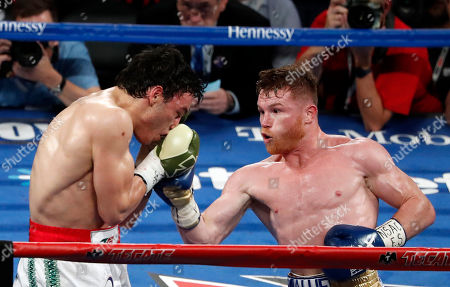 Editorial image of Alvarez Chavez Jr Boxing, Las Vegas, USA - 06 May 2017