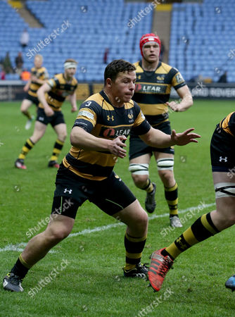 Daniel Roche (number 3) , the former star of BBC Television programme Outnumbered, plays for the Wasps Under 17 team
