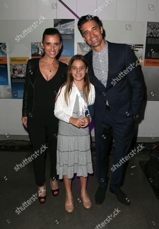 Carole Marini and Gilles Marini with daughter Juliana Marini