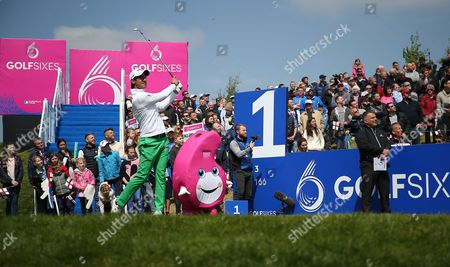 Matteo Manassero of Italy  during the GolfSixes European Tour 2017 Quarter-Finals at the Centurion Club , St Albans  on 7th May 2017