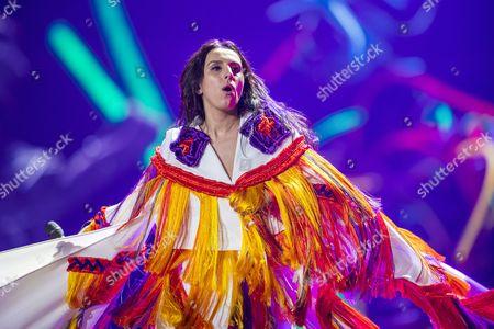 Jamala of Ukraine performing her song