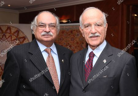 Wajid Shamsul Hasan, Pakistan High Commissioner and Dr Rahim Sherzoy, Afghan Ambassador