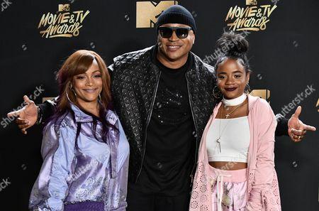 Stock Picture of Simone Smith, LL Cool J and Nina Simone Smith