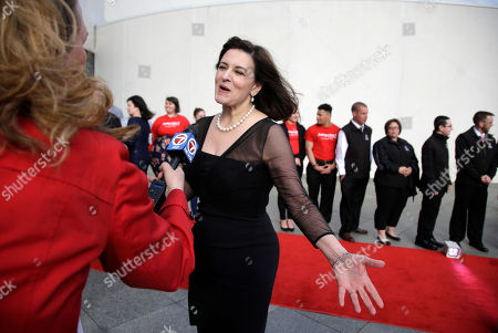 Victoria Reggie Kennedy, widow of Senator Edward M. Kennedy, arrives at the John F. Kennedy Presidential Library and Museum before the 2017 Profile in Courage award ceremonies, in Boston. Former President Barack Obama is to be presented with the award Sunday