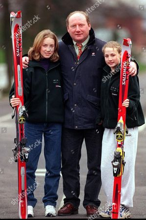 Pic Shows Alan Brazil And Daughters.. See Story Ken Lawrance Daily Mail Sport