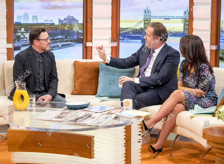 Ian Puleston-Davies, Piers Morgan and Susanna Reid