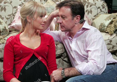 'Emmerdale'  TV - 2008 -  Grayson Sinclair (Christopher Villiers) shocks Katie Sugden (Sammy Winward) when he asks her to marry him.