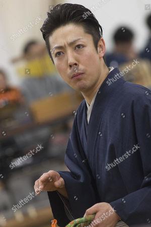 Actor Onoe Kikunosuke V during rehearsals
