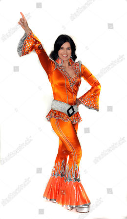 Susanna Reid. Dressed in an Abba outfit which she will wear to raise money for the Children in Need Charity.